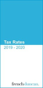 2019-20 Tax Rates Card Download