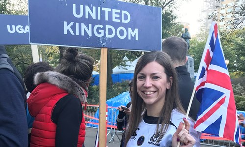 Stirling daughter goes from strength to strength in Parade of Nations at New York Marathon