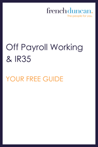 Off Payroll Working / IR35 - YOUR FREE GUIDE Download