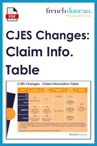 CJRS Changes - Claim Information Table (.pdf) Download