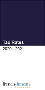 French Duncan Tax Cards 2020-21 Download