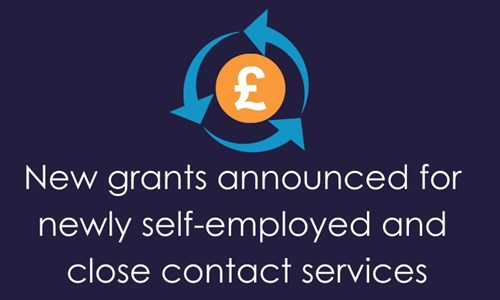 New grants announced for newly self-employed and close contact services